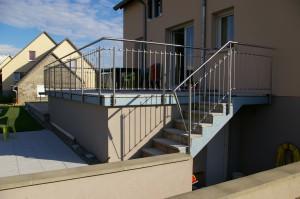 garde corps et rampe escalier inox